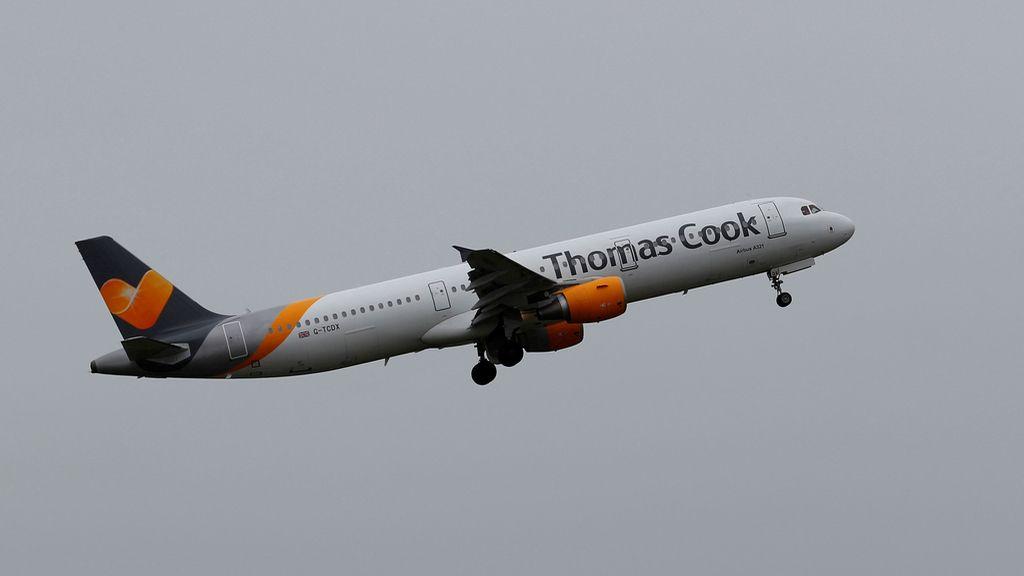 Un avión de la compañía aérea Thomas Cook