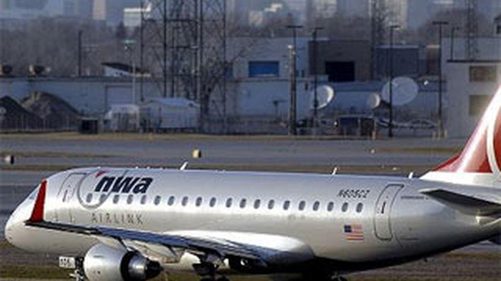 Imagen de archivo de un avion de la compañía Northwest Airlines