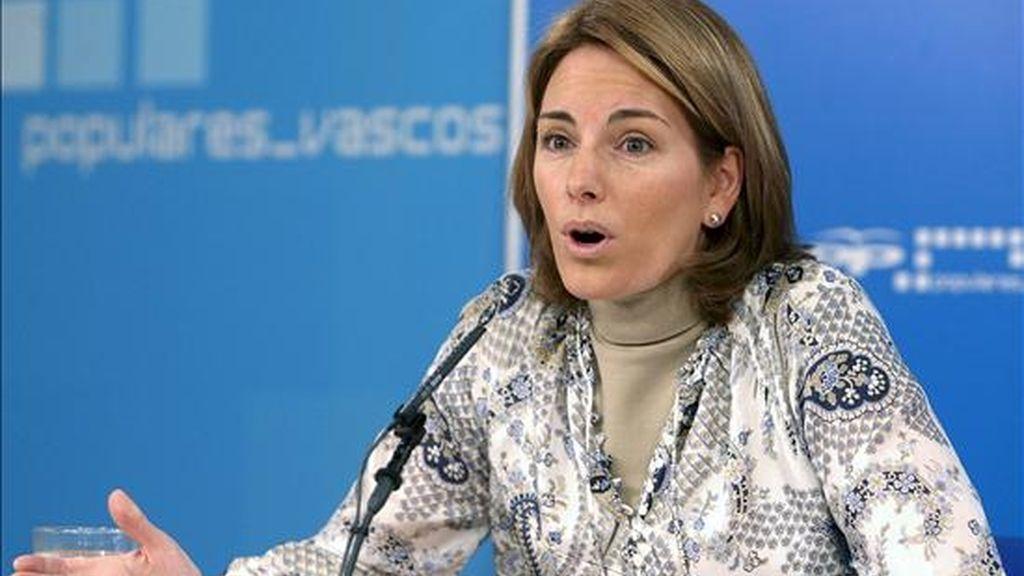 La presidenta del Parlamento Vasco, Arantza Quiroga. EFE/Archivo