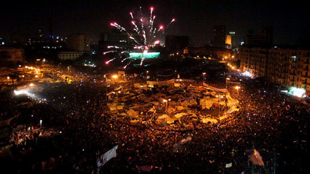 Fuegos artificiales en El Cairo