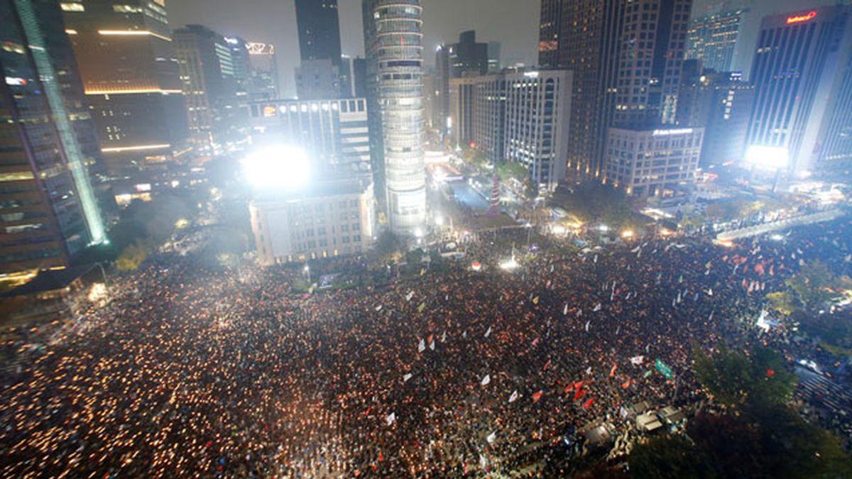 Protesta en Seúl