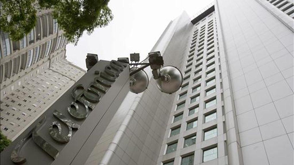 Fotografía del pasado 7 de octubre de 2009, en la que se observa la fachada de la sede de la filial brasileña de Telefónica (Telesp) en Sao Paulo (Brasil). EFE/Archivo