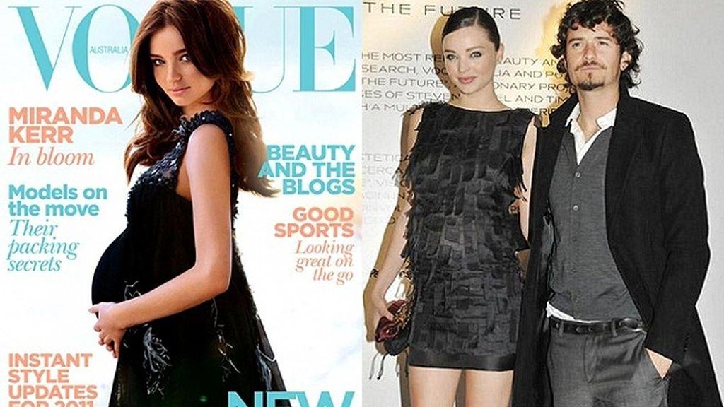 Miranda Kerr, embarazada para Vogue (2010)