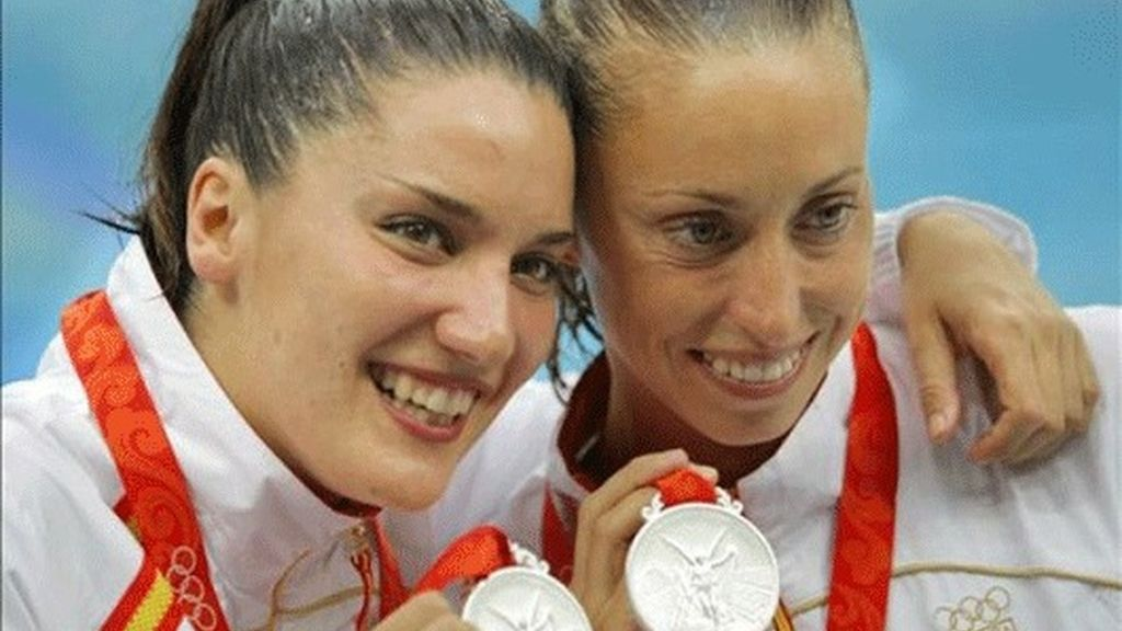 Mengual y Fuentes, plata en la modalidad de dúos de natación sincronizada