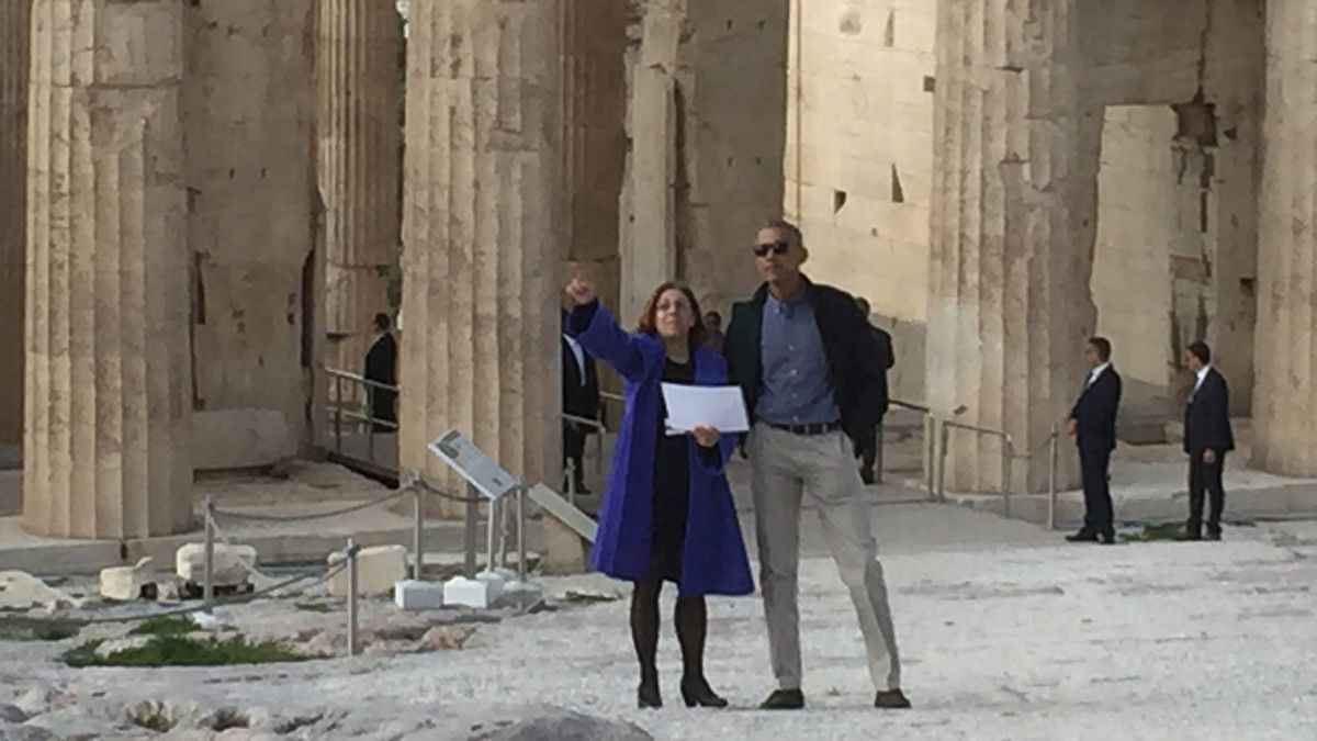 Obama visita la Acrópolis de Atenas