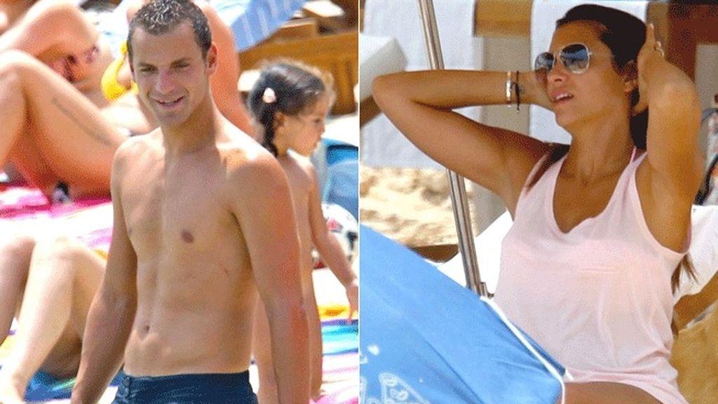 Roberto Soldado y su chica en Ibiza