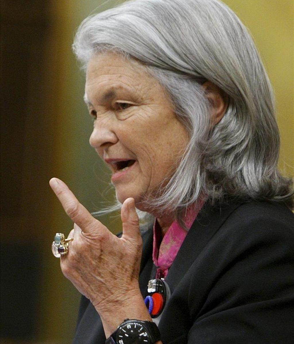 La portavoz de Defensa del PP en el Congreso, Beatriz Rodríguez Salmones. EFE/Archivo