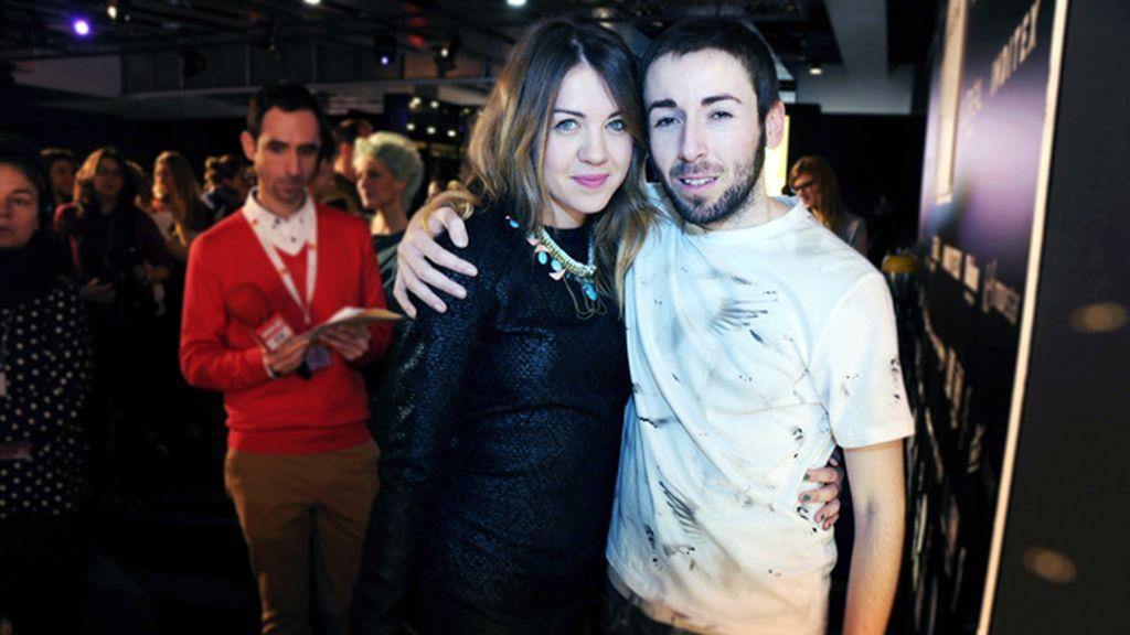 Daniel Rabaneda con la actriz Andrea Guasch