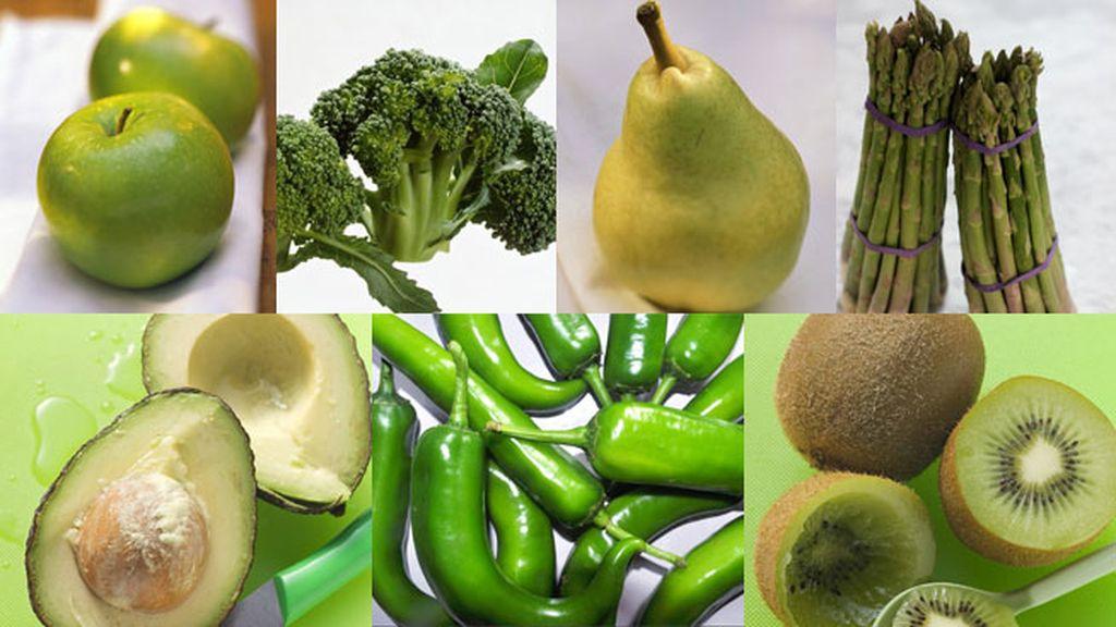 Siete alimentos verdes