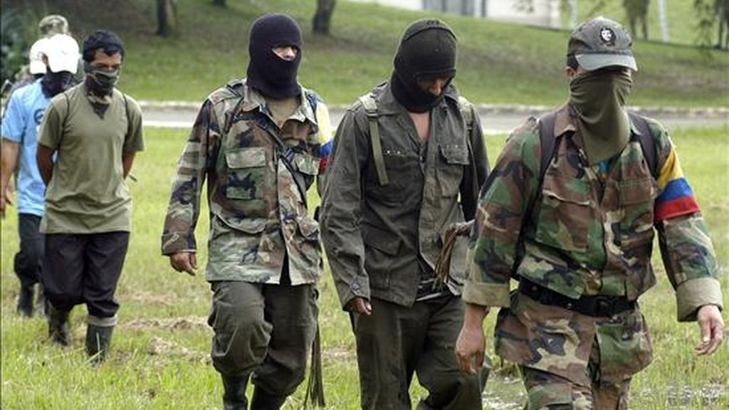 Según las autoridades el grupo de supuestos guerrilleros estaba integrado por una mujer y tres varones. EFE/Archivo