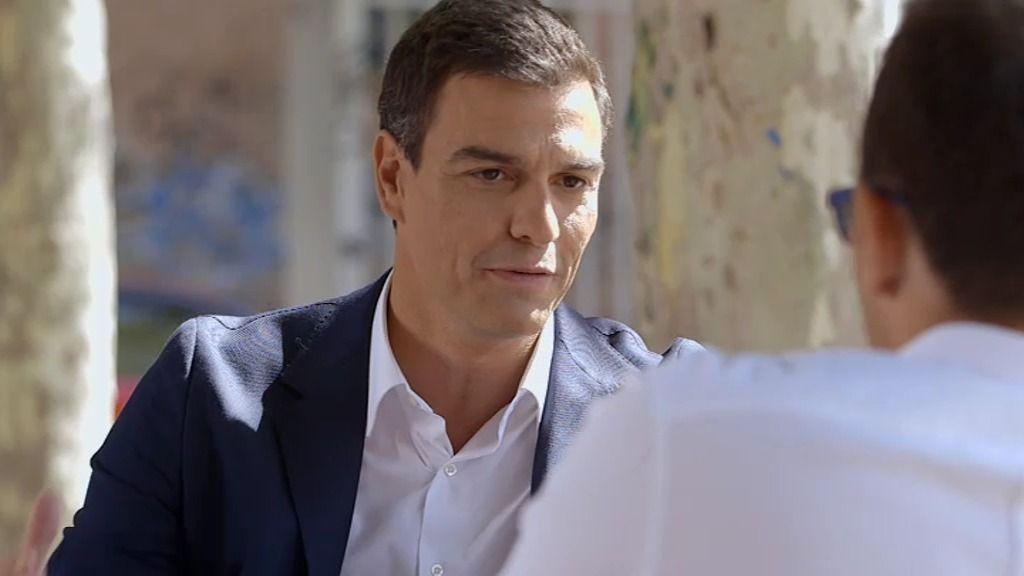 La charla con Pedro Sánchez, foto a foto
