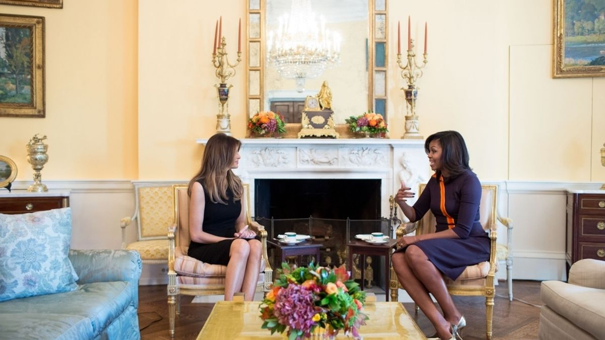 Melania Trump y Michelle Obama, en la Casa Blanca