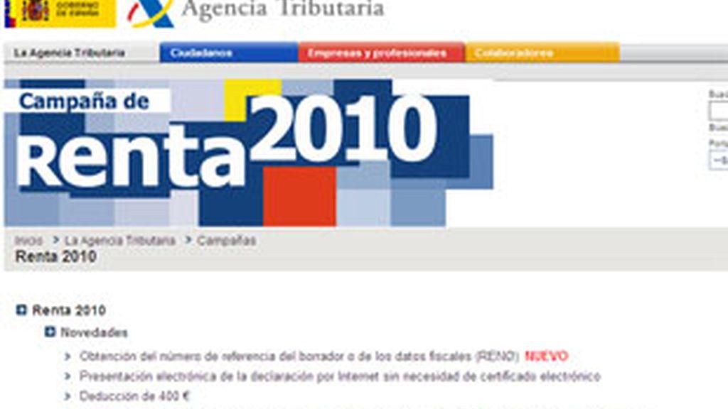 En la web de la Agencia Tributaria se resuelven las dudas.