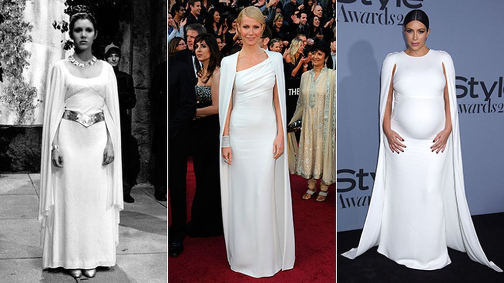 El vestido blanco con capa que homenajearon de Tom Ford a Valentino