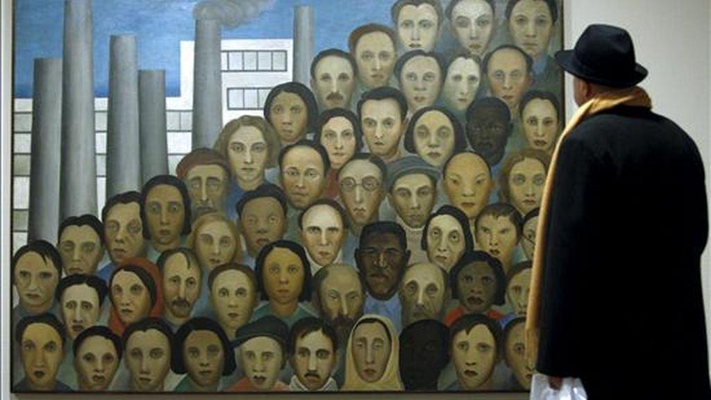 Una de las obras del centenar de pinturas y dibujos que forman la primera exposición individual que se dedica en España a Tarsila do Amaral, , que se inauguró hoy en la Fundación Juan March. EFE