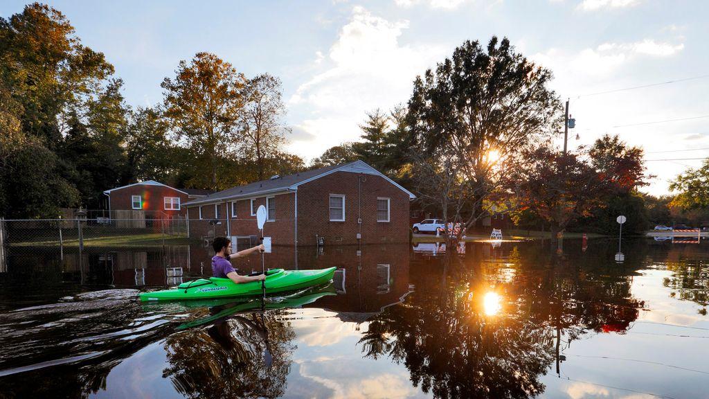 En kayak a casa, consecuencias de Matthew