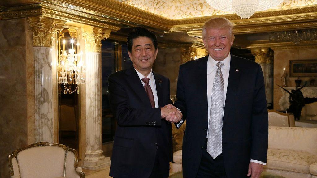 Shinzo Abe y Donald Trump se reúnen en Nueva York