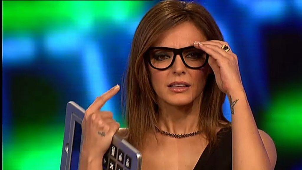 Merche, con gafas y a lo loco