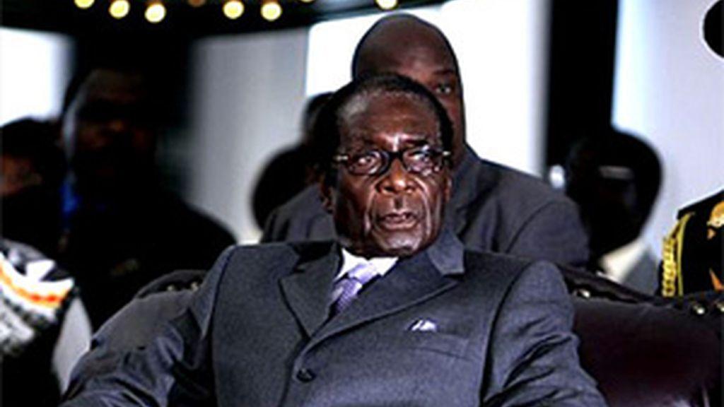 Robert Mugabe durante la cumbre. Foto: AP.