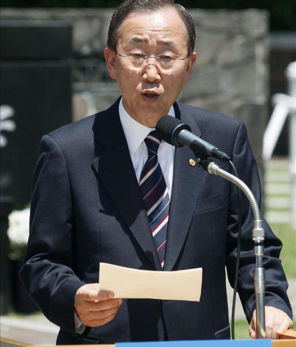 """El portavoz de la ONU, Martin Nesirky, detalló, que el secretario general de la organización, Ban Ki-Moon está preocupado ante las informaciones sobre """"víctimas civiles a causa de las operaciones israelíes en Gaza"""". EFE/Archivo"""