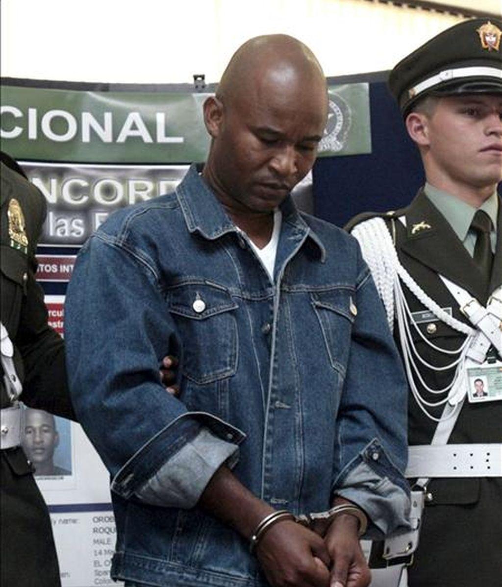 Foto de archivo de Luis Orobio Lobón, miembro de las Fuerzas Armadas Revolucionarias de Colombia (FARC), que fue extraditado a Estados Unidos, donde se le acusa de participar en el secuestro de un ciudadano estadounidense en Panamá. EFE/Archivo