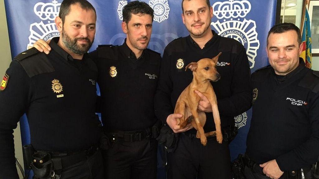 La Policía rescata a un perro maltratado y paga los costes de la operación