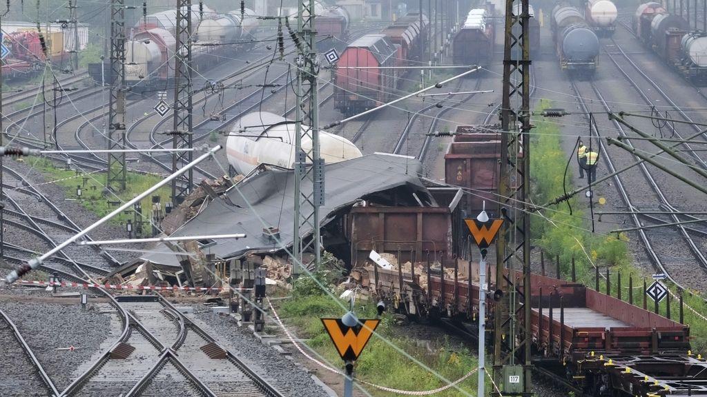 Accidente de tren con mercancías peligrosas en Leizpig