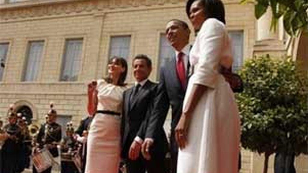 Obama ha insistido en la necesidad de una negociación a su llegada a Normandía. Vídeo: ATLAS