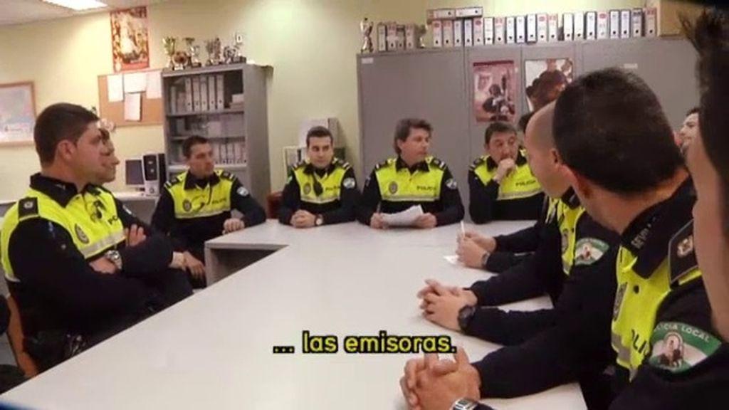 Policías con honores