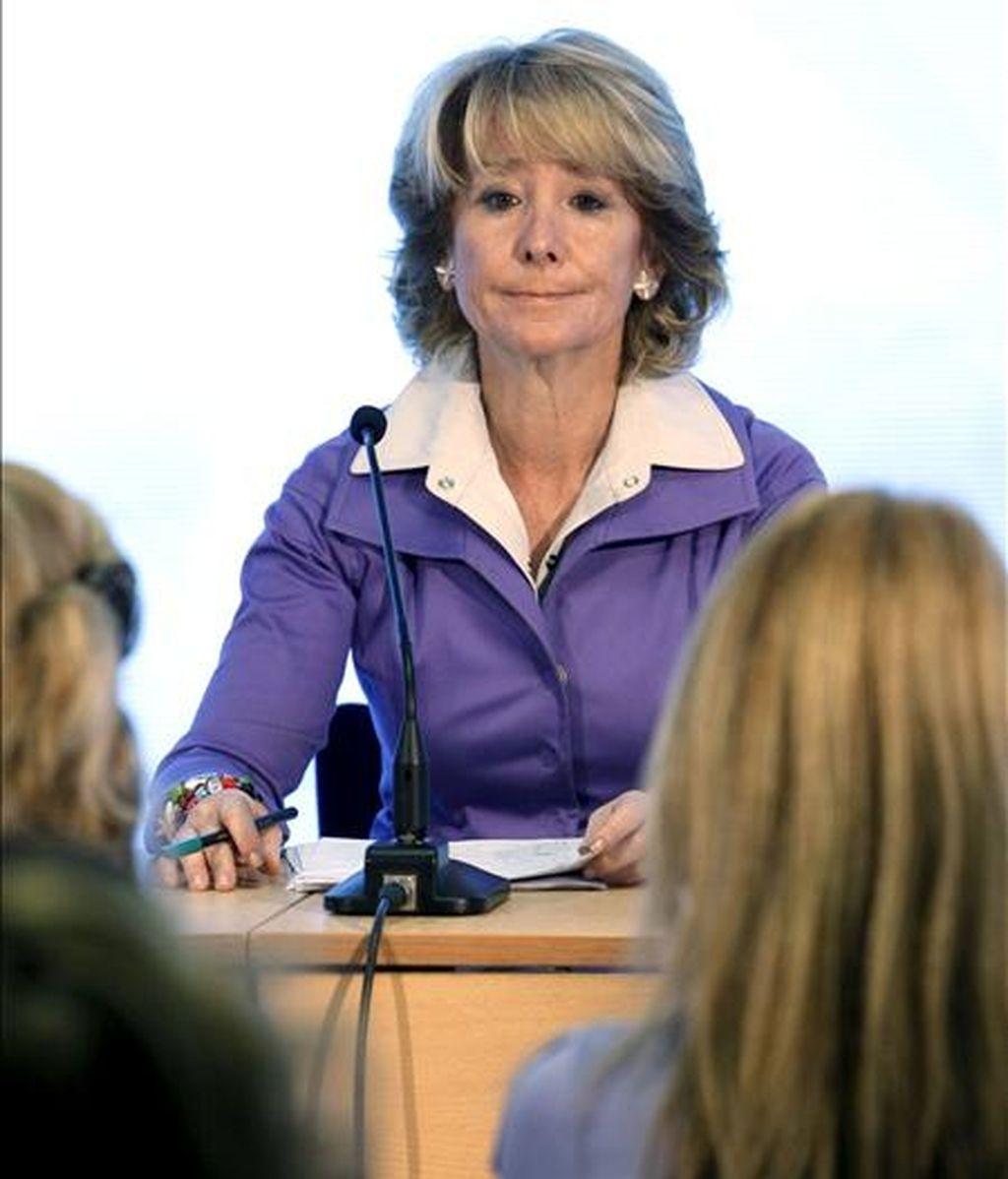 La presidenta del PP madrileño, Esperanza Aguirre. EFE/Archivo