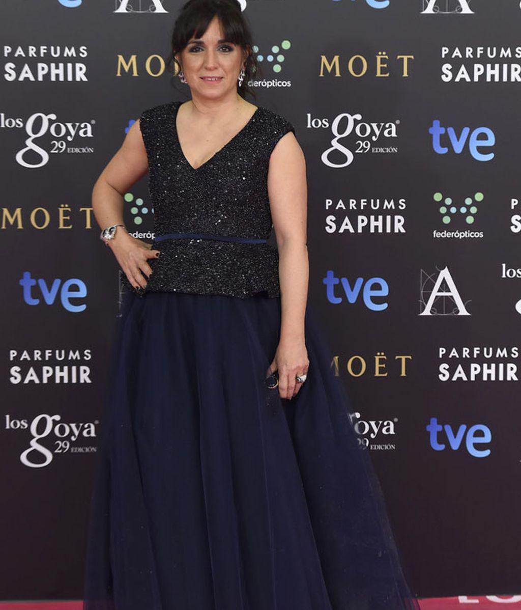 Judith Collel en la alfombra de Los Goya