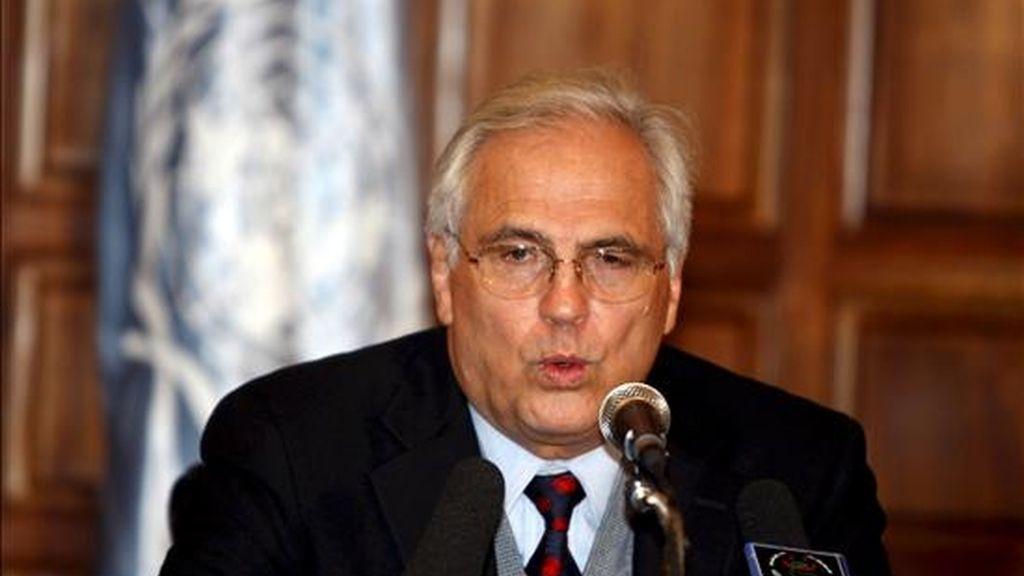 El enviado especial de la ONU para el Sahara Occidental, Christopher Ross. EFE/Archivo