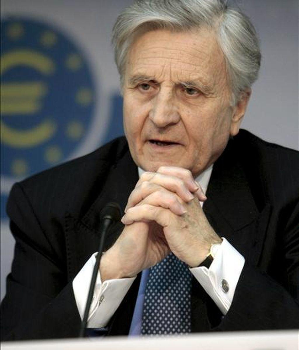 El presidente del Banco Central Europeo (BCE), Jean-Claude Trichet, durante una rueda de prensa en Fráncfort, Alemania. EFE/Archivo