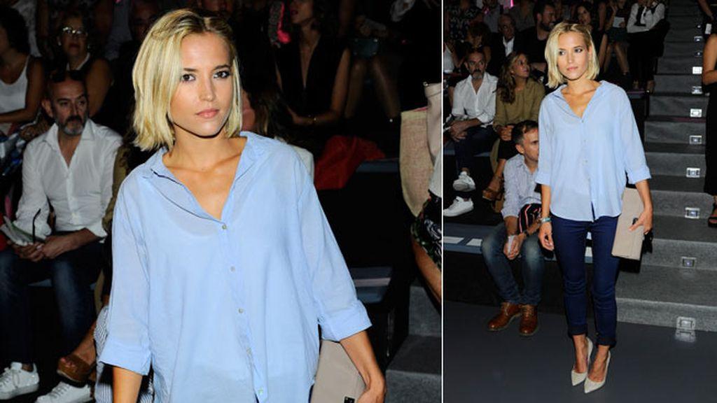 Ana Fernández, también con este 'look' casual en el desfile de The 2nd Skin Co.