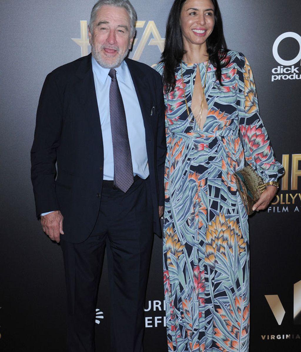 Robert De Niro acompañado de su hija Drena De Niro, que apostó por el estampado