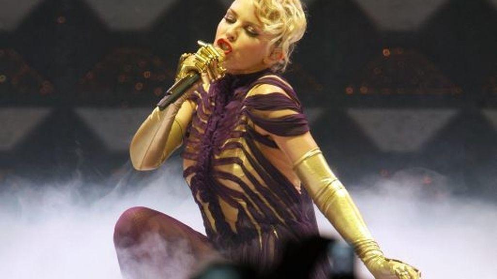 Kylie Minogue durante su concierto en Zurich. Foto: AP