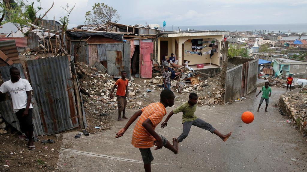 La cotidianidad en Haití después del paso del huracán Matthew