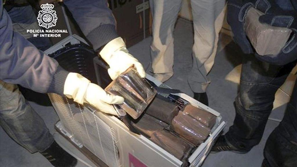 Imagen de otra operación contra el tráfico de hachís en Alicante. EFE/Archivo
