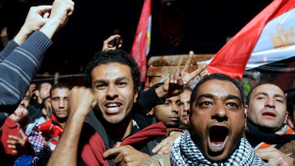 Euforia en la plaza Tahrir