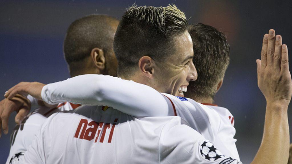 El Sevilla se impone al Zagreb
