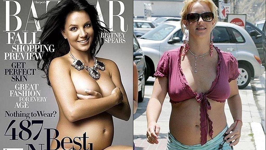 La reina del pop, desnuda y embarazada para Harper´s Bazar (2006)