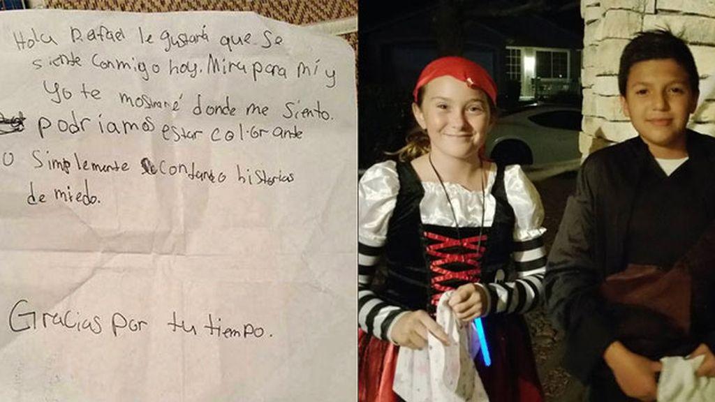 carta y niños