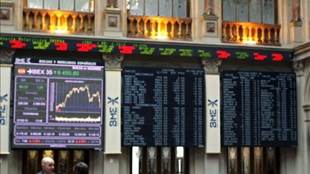Interior de la Bolsa de Madrid. EFE/Archivo
