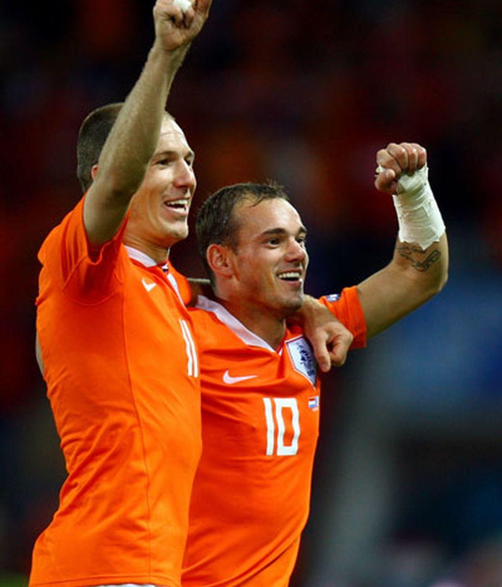 Robben y Sneijder son las grandes amenazas de España en la final del Mundial