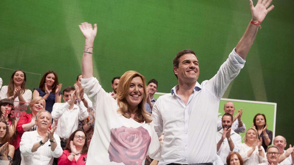 Mitin del PSOE en Alcalá de Guadaíra con Pedro Sánchez y Susana Díaz