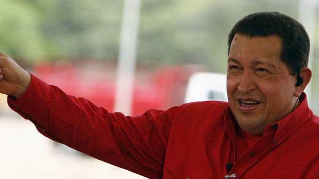 Imagen del presidente de Venezuela, Hugo Chávez. Foto: EFE