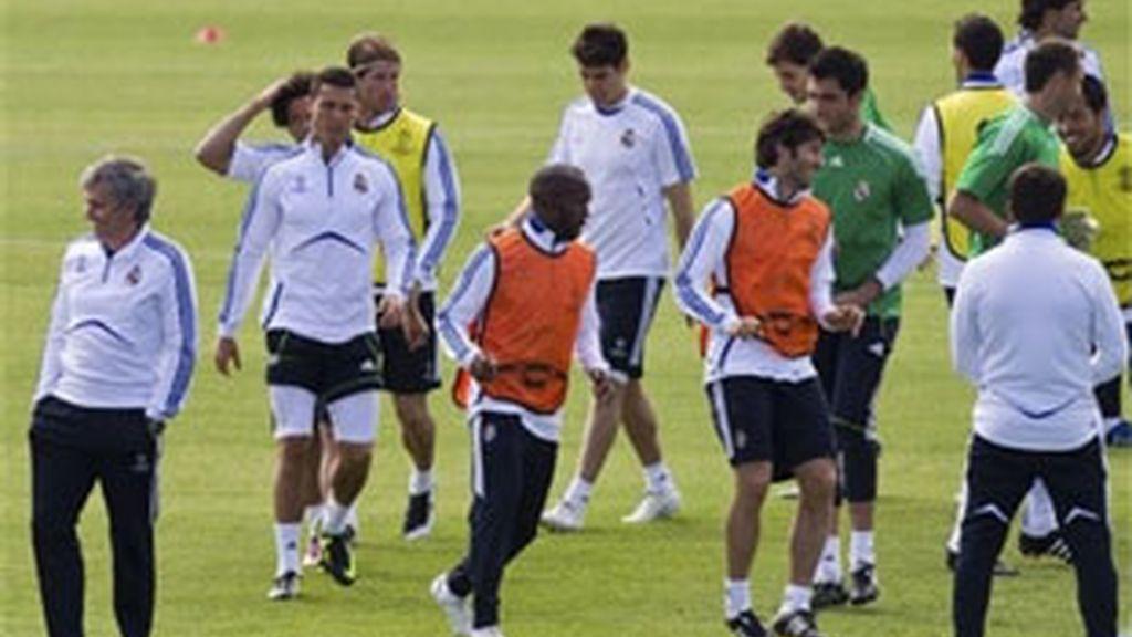 Convocatoria sin sorpresas para el partido de ida de las semifinales de la Liga de Campeones ante el Barça. Foto: AP.