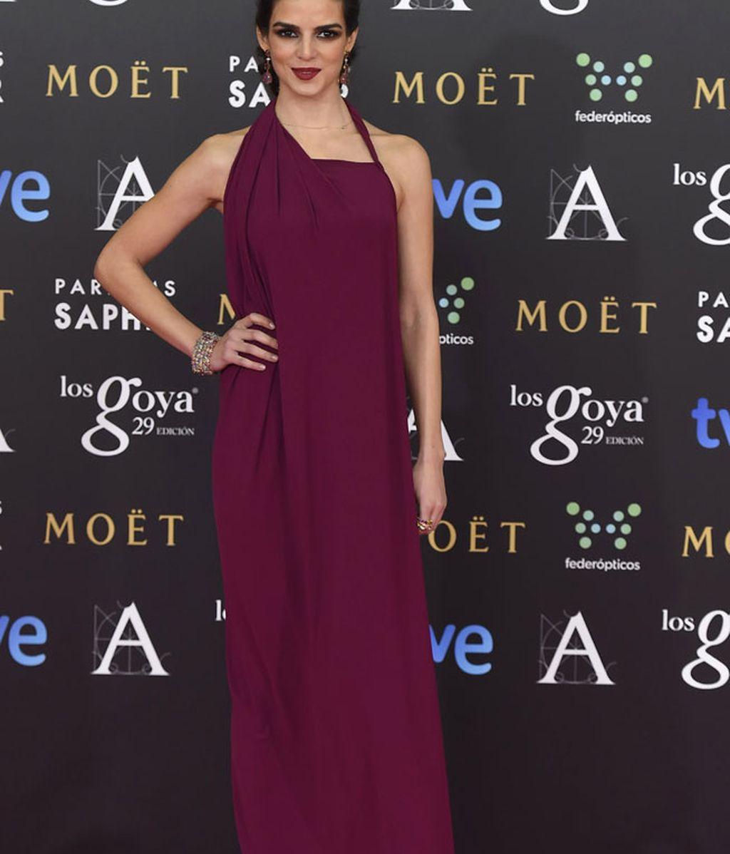 Clara Lago con vestido de Ulises Mérida