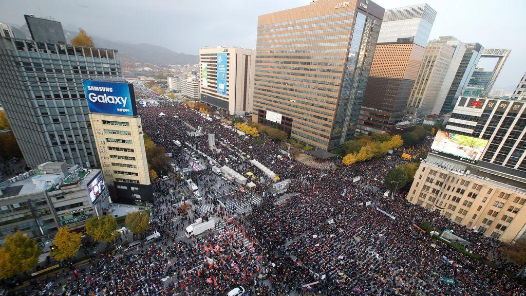 Las manifestaciones también se han expandido por Seúl