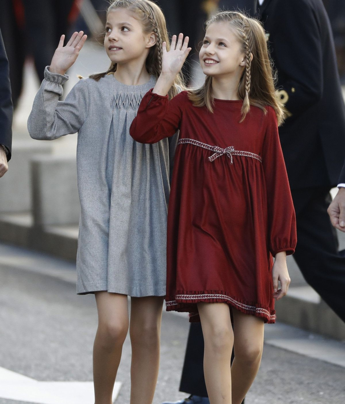 La princesa de Asturias y la infanta Sofía